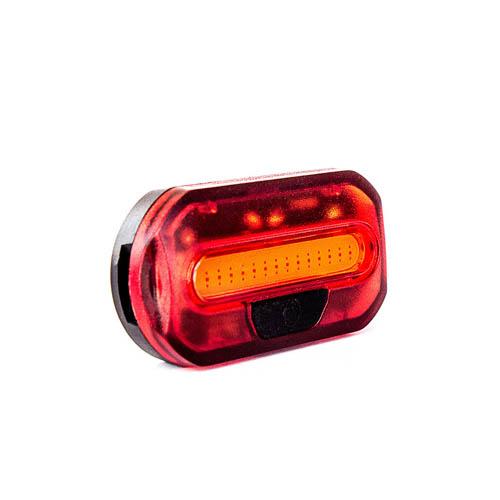 Farol / Luz / Lanterna Traseira vermelha 15 chips de led super brilhante / preto