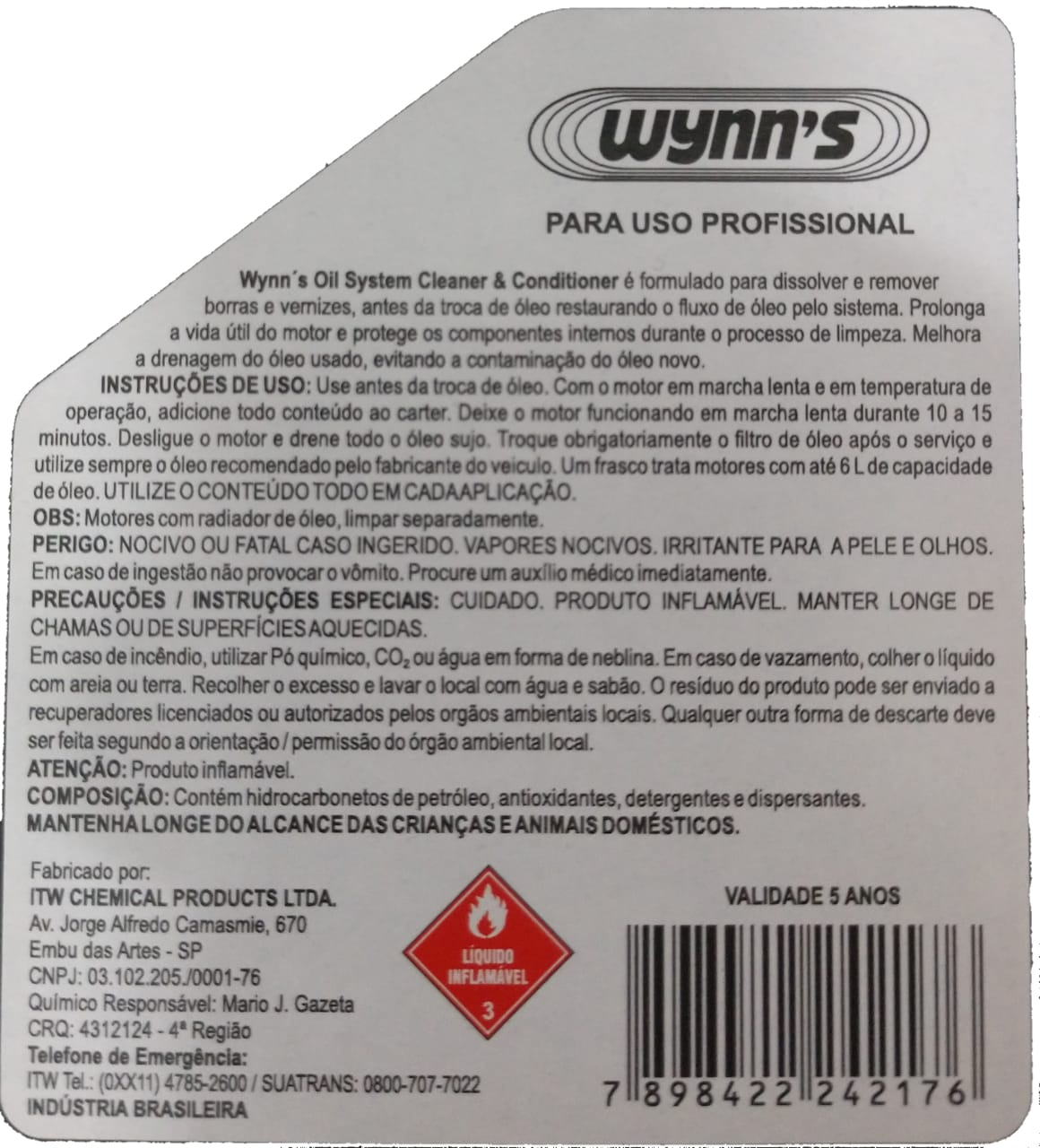 Flush De Motor Para Limpeza do Sistema de Lubrificação Wynns - 325ml