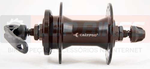 Conjunto de Cubo de Bicicleta Calypso p/ Rosca / Rolamentado / Disco 36F