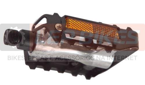 Pedal MTB Alumínio Grade com Refletor