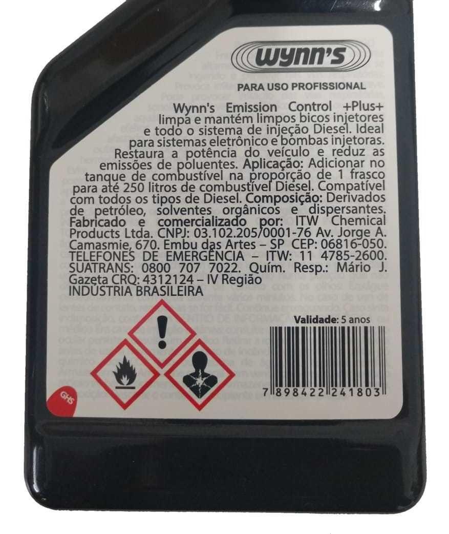 Kit 2 - Limpa Bico Diesel Wynns Emission Control Plus - 325ml