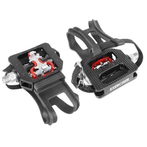 Kit 2 Pares de Pedais para Bicicleta Ergométrica Fitness / Spinning Engate Sapatilha e FirmaPé Wellgo WPD-E003