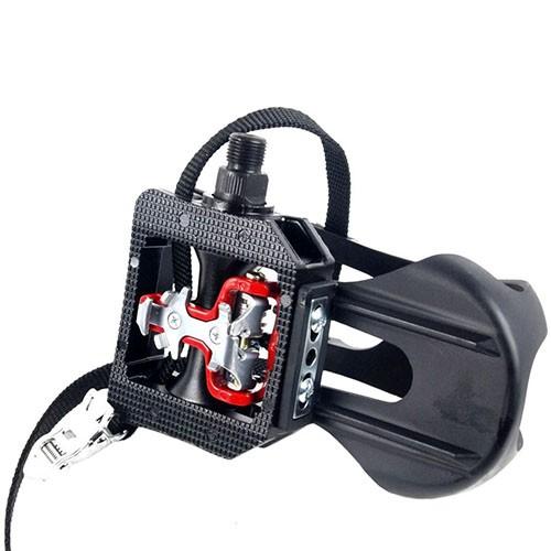 Kit 5 Pares de Pedais para Bicicleta Ergométrica Fitness / Spinning Engate Sapatilha e FirmaPé Wellgo WPD-E003