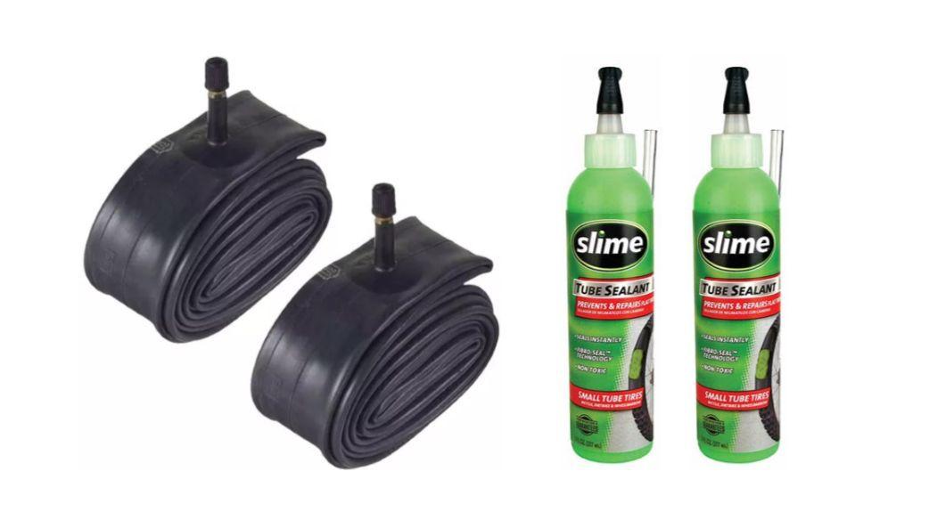 Kit com 2 Câmaras de Ar Aro 29 Pirelli + 2 Selante Slime 237ml - Bike/Mtb