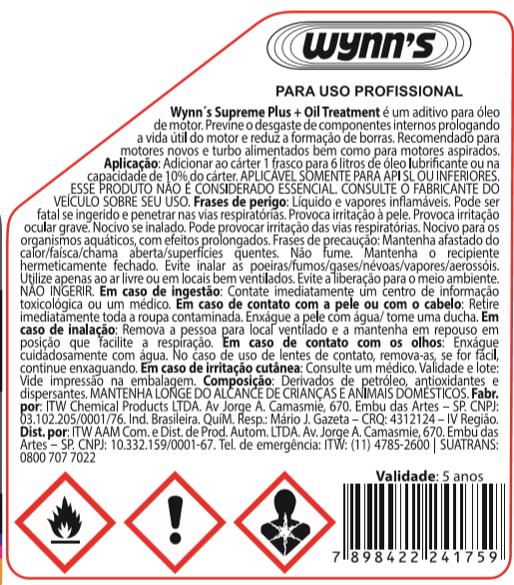 Kit com 4 Condicionadores de Metais Wynns Supreme Plus - 325ml
