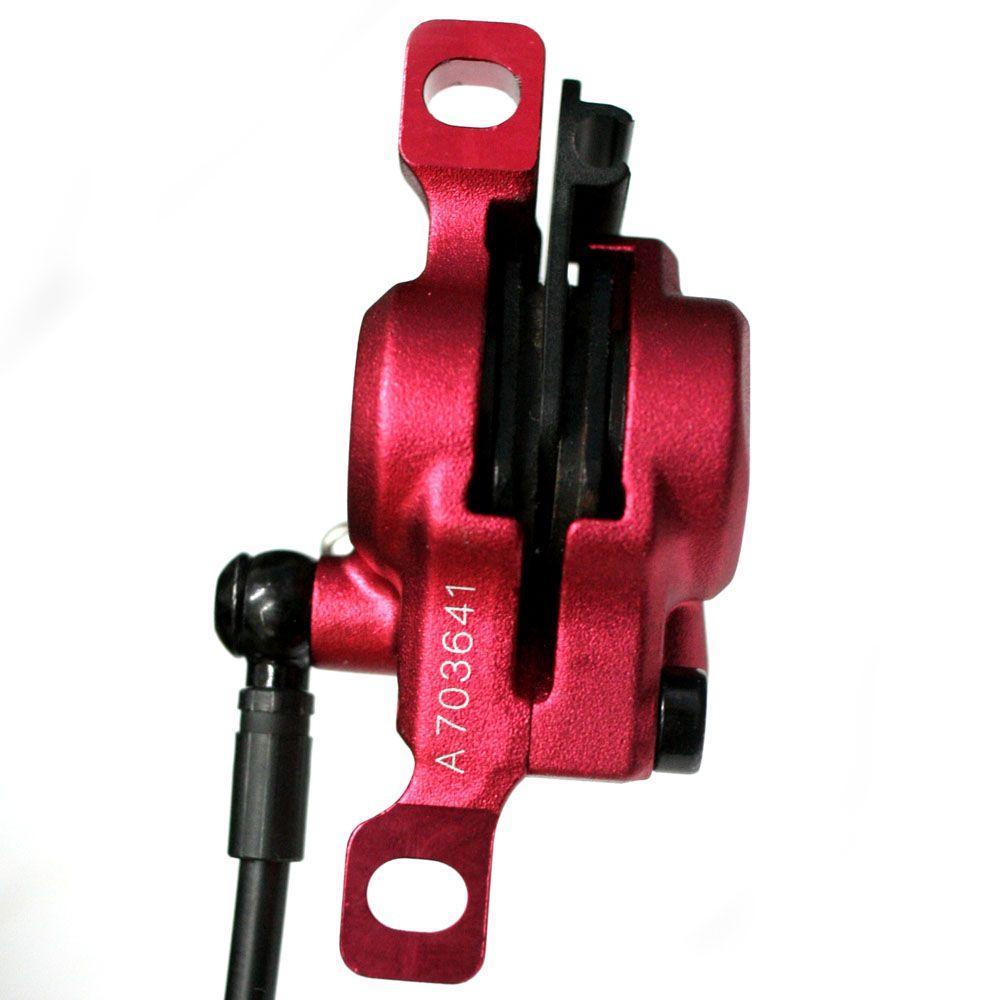 Kit / Conjunto de freio a disco hidráulico Bengal Helix 7B 160mm DH / FR - Vermelho