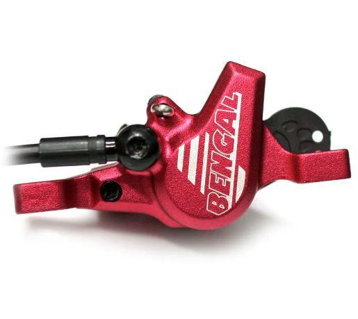 Kit de freio a disco hidráulico Bengal 160mm Vermelho com Mangueira 2.5m Helix 7B