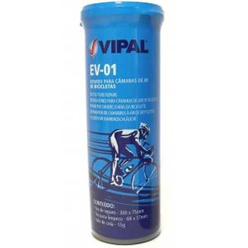 Kit Remendo / Reparo p/ câmara de ar de bike - Vipal EV-01