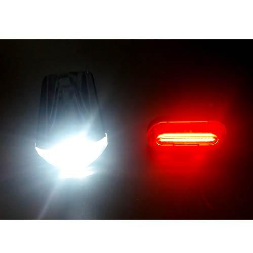 Kit super led de Luz / Farol/Lanterna/Sinalizador dianteiro + traseiro / kit para segurança noturna para bicicleta