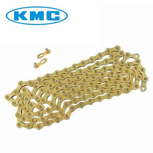 Corrente MTB / SPEED - KMC X-9 Ti-N Gold 9v (dourada)