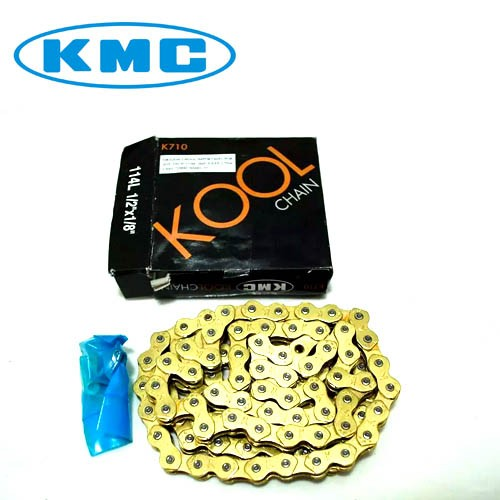 Corrente KMC K710 Kool para BMX / Fixa / Single-Speed - Dourado