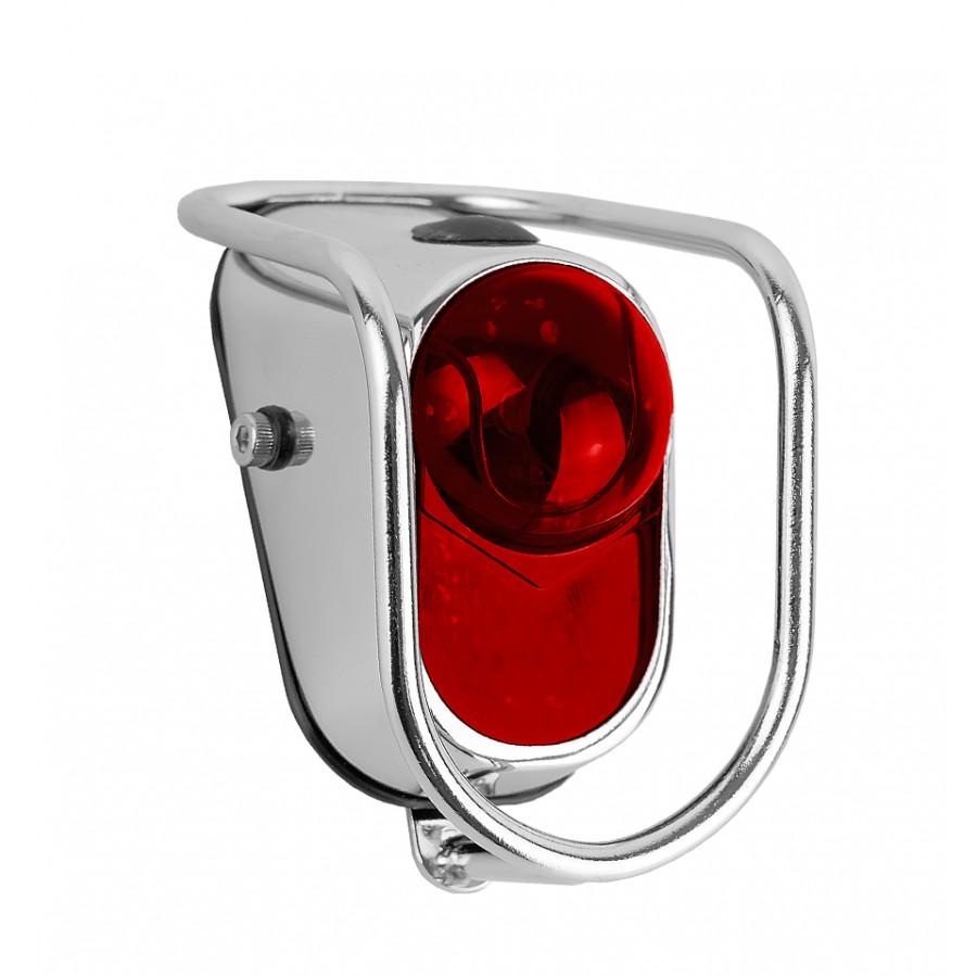 Lanterna Traseira Bicicleta Q-Lite LM002 Cromado P/ Paralama