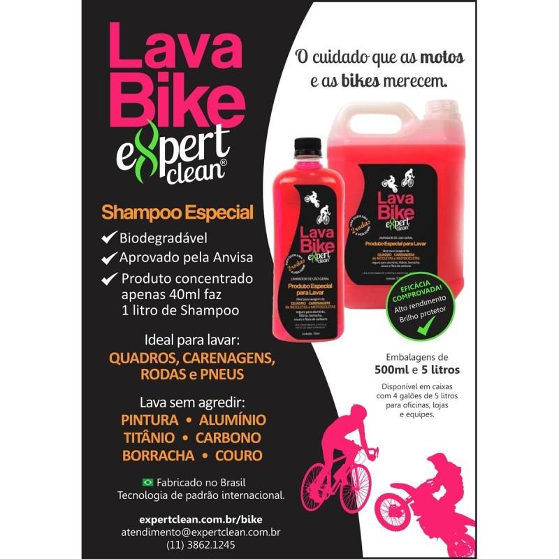 Shampoo Lava Bikes Expert Clean frasco 750mL - limpeza de bicicletas e motocicletas