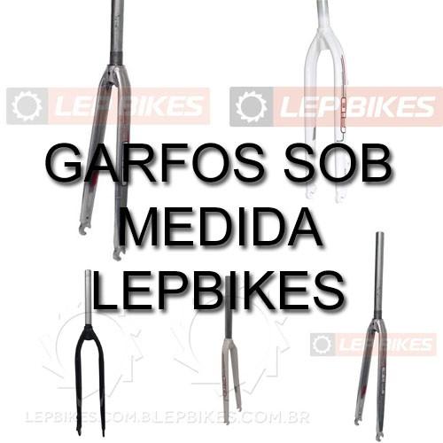 """Garfos sob medida para sua bike: 26"""", 27,5"""", 29"""", 700, V-Brake, Disco, STD, Over. Encomende conosco!"""