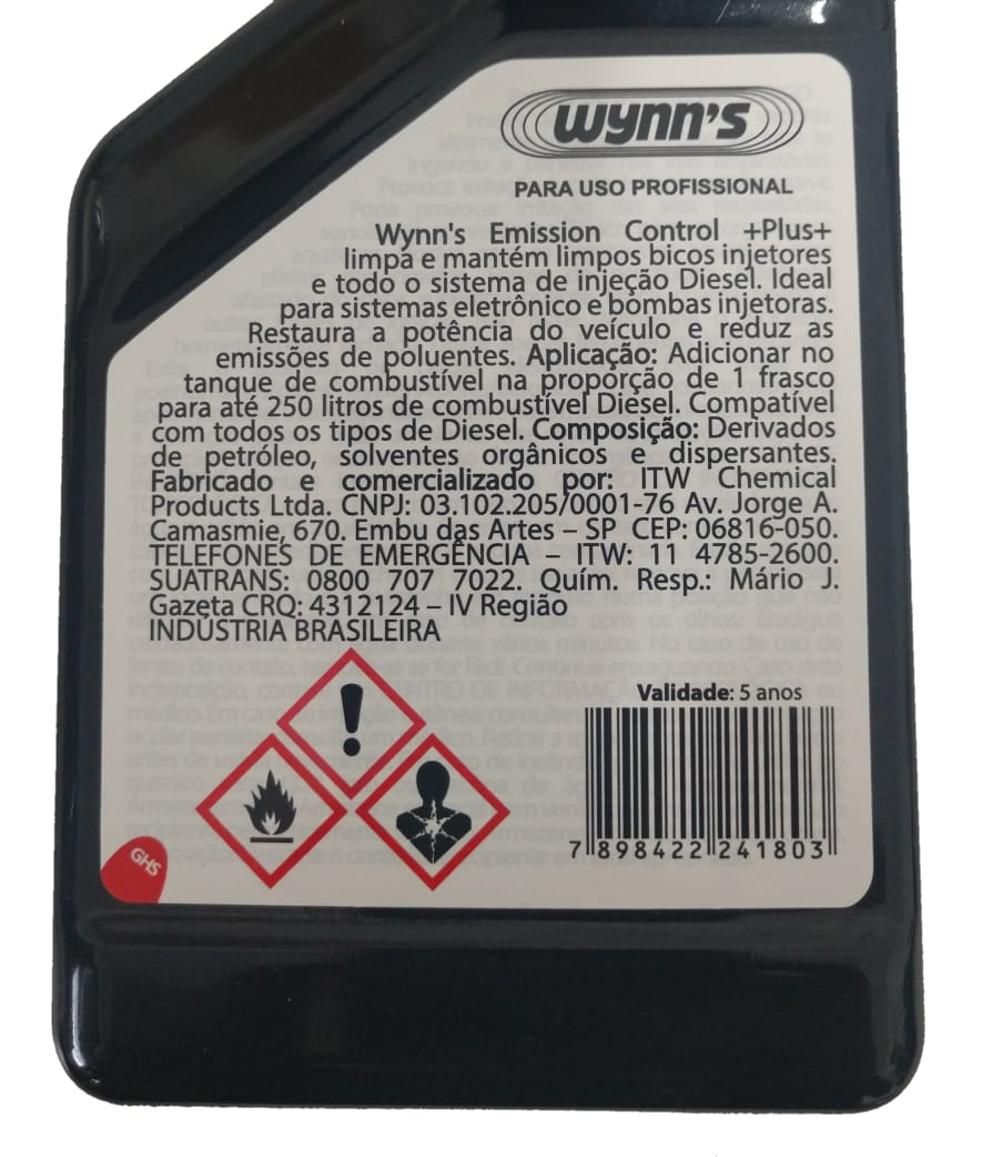 Limpa Bico Diesel Wynns Emission Control Plus - 325ml