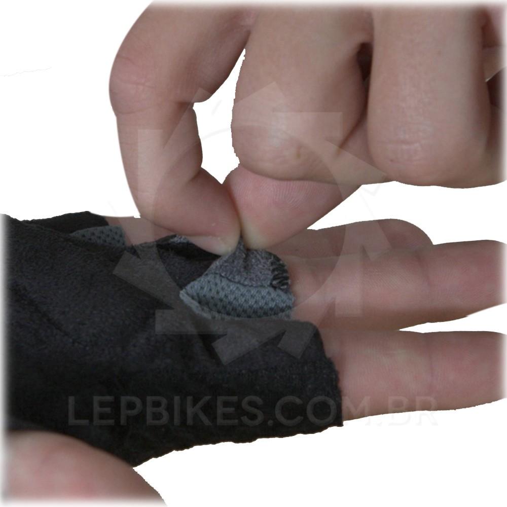Luva Hard Shock Dedo Curto MTB / Speed