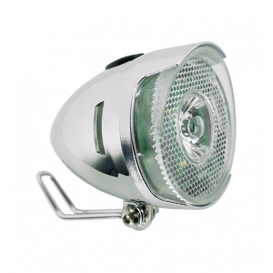Farol Dianteiro Q-Lite LM003 LED Prata Cromado Classic Vintage - Para Paralamas