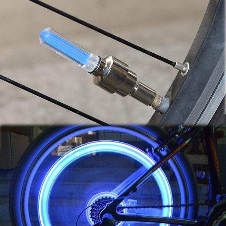 Par de Luz LED Bico de Válvula para Roda de Bicicleta