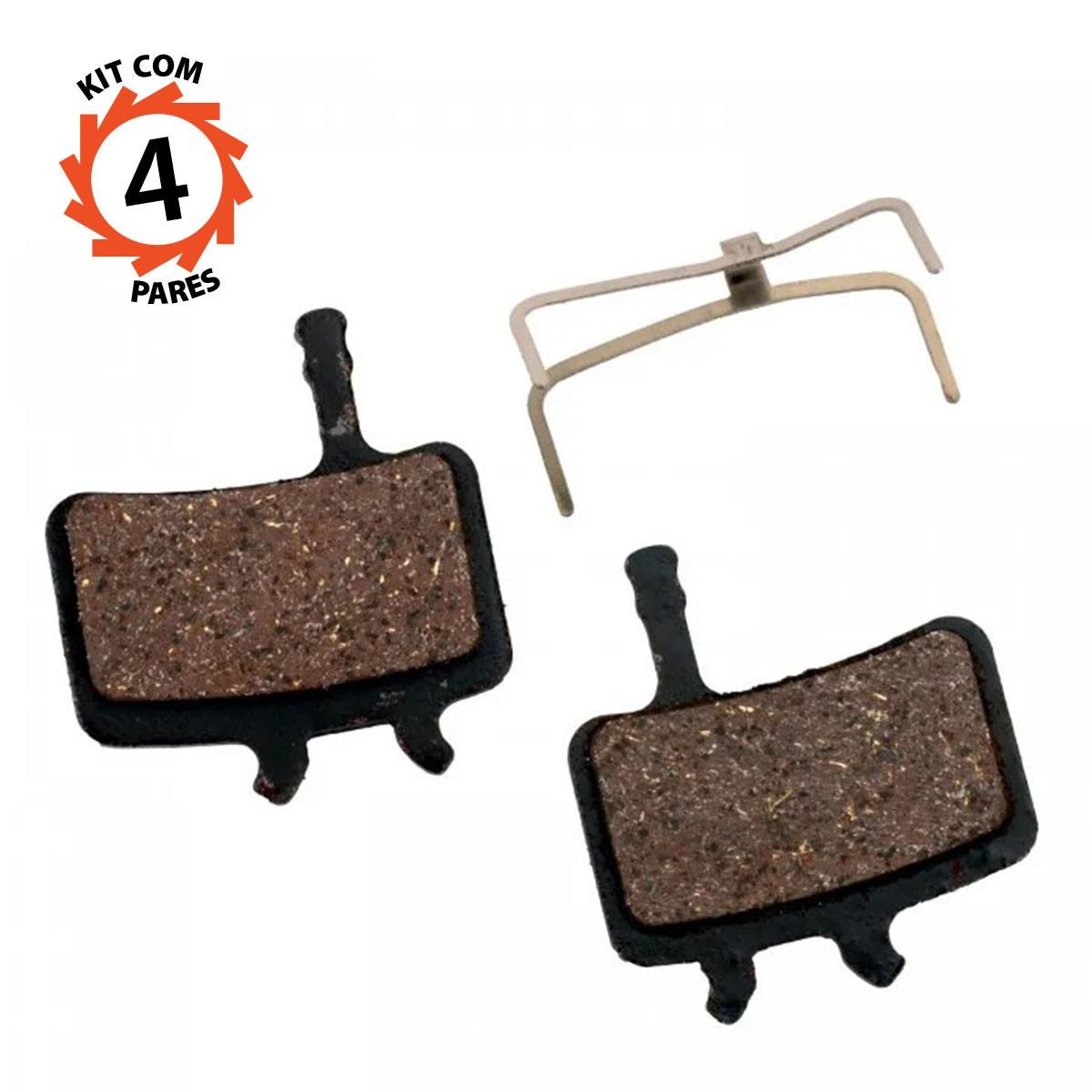 Pastilha Freio a Disco Avid BB7 Juicy 3/5/7 Carbon Promax DSK-905/907 - Kit 4 Pares