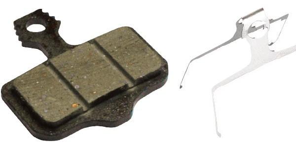 Pastilha orgânica Freio a Disco Avid X0/XX, Elixir 1-9/R/CR/World Cup PA05SA05 - Kit 4 Pares
