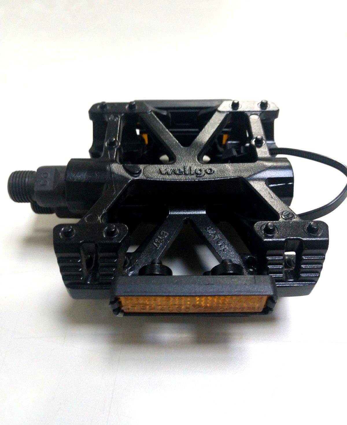 Pedal Wellgo B-137 AL Plataforma Dh/Bmx Preto