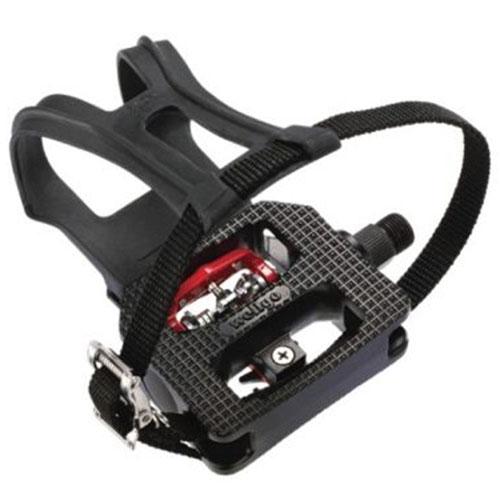 Pedal para Bicicleta Ergométrica Fitness / Spinning Engate Sapatilha e FirmaPé - Wellgo WSP-E003