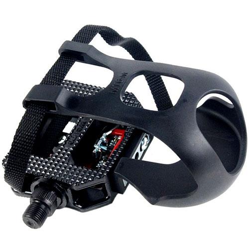 Pedal para Bicicleta Ergométrica Fitness / Spinning Engate Sapatilha e FirmaPé - Wellgo WPD-E003