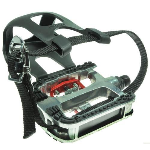 Pedal Fitness / Spinning - Wellgo WPD-E14 - Alumínio com Engate p/ Sapatilha e FirmaPé