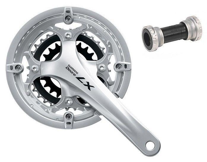 Pedivela Shimano Deore LX T661 - 44x32x22 9v Integrado C/ Eixo 175mm