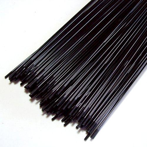 Raio Aço Inox Preto 290mm x 2 - Jogo com 36 + Niples (aro 29/700)