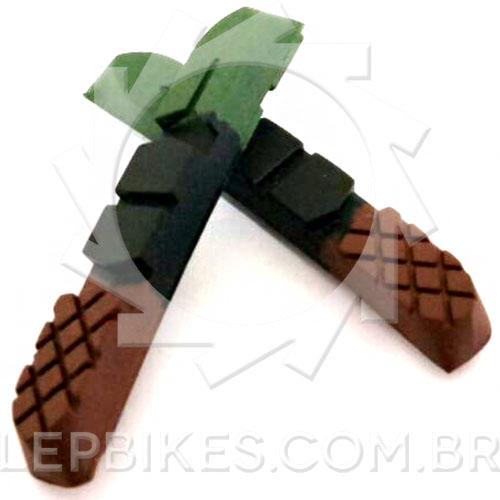 Refil de sapata V-brake 3 compostos