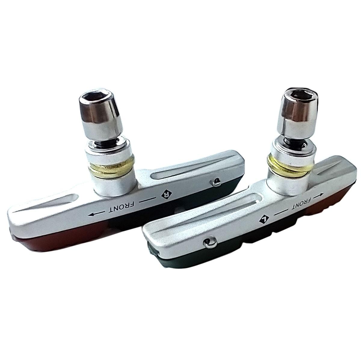 Sapata/Pastilha v-brake padrão Shimano (DEORE/LX/XT/XTR) 3 compostos