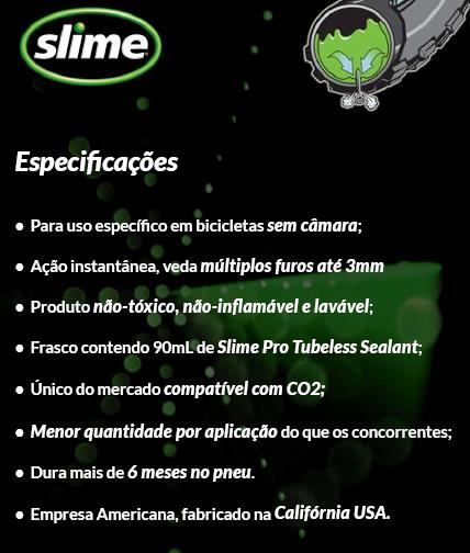 Selante Slime Pro Tubeless p/ Bikes Sem Câmara