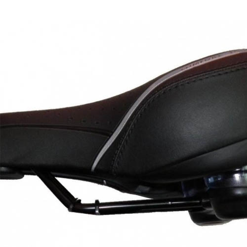 Selim para bicicleta MTB/city/trekking - vazado com molas preto - Comfort Touch DDK-3301