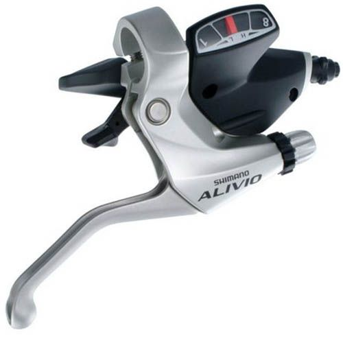Trocador / Alavanca de cambio Shimano Alivio M 410 3x8v - Prata