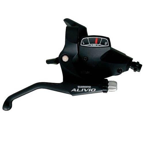 Trocador / Alavanca de cambio Shimano Alivio M 410 3x8v - Preto