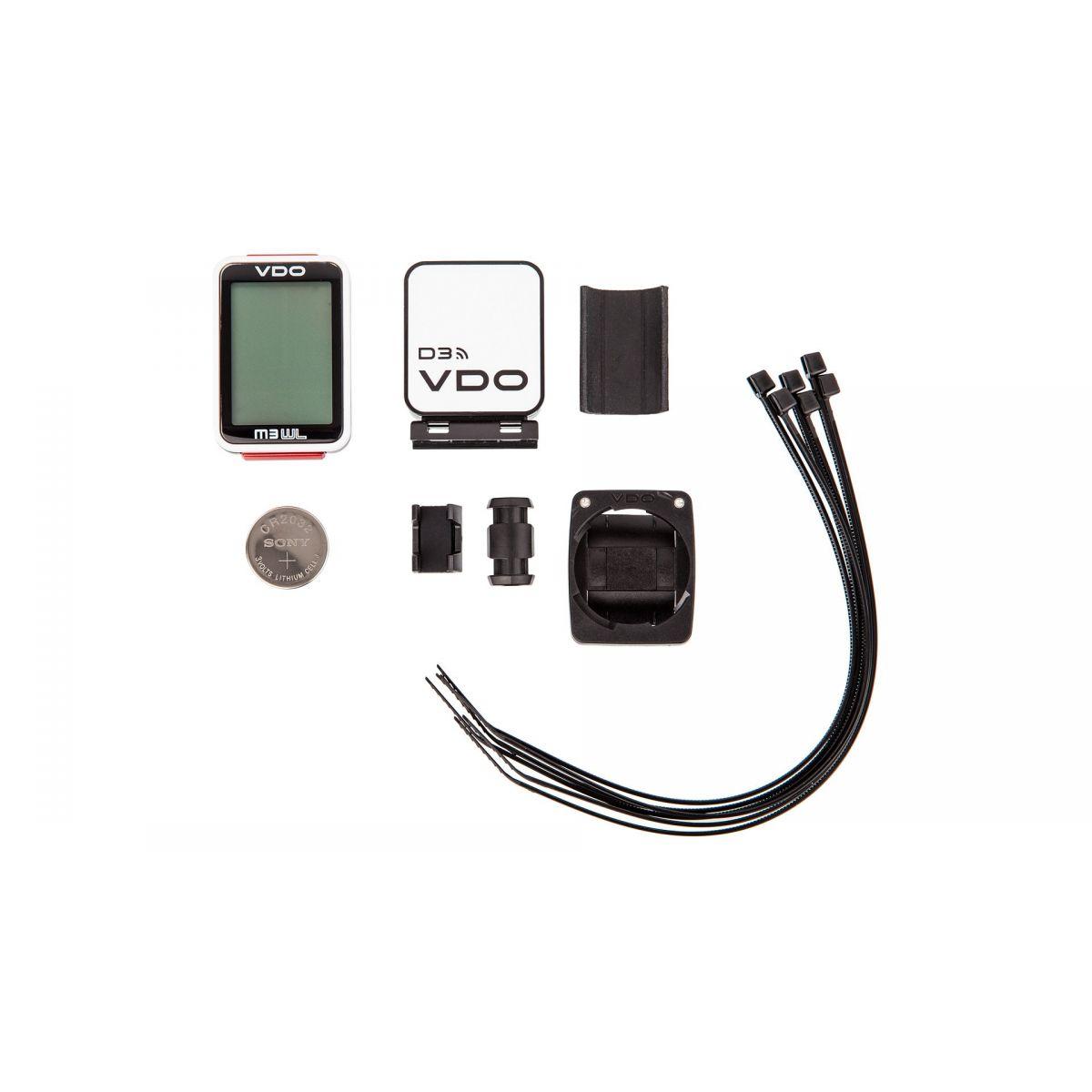 Ciclocomputador VDO M3 sem fio D3 transmissão digital de dados