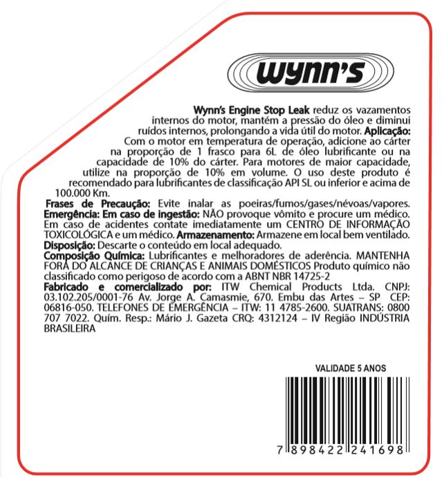 Veda Vazamentos em Motores Engine Stop Leak Wynns - 325ml