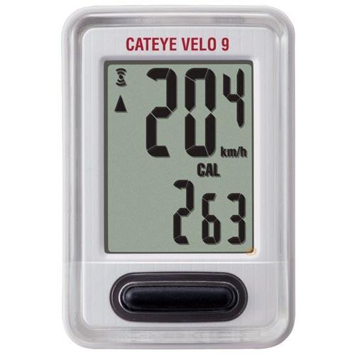 Velocímetro / Ciclocomputador Velo 9 Cateye Branco