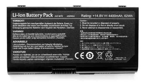 Bateria Para Asus G71 Séries  4400mah - A42-m70 - L0690l6 - EASY HELP NOTE