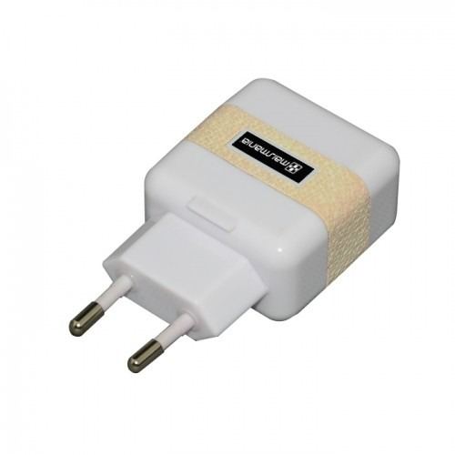 Fonte Carregador Dual Usb Branco Para Dispositivos Usb (763) - EASY HELP NOTE