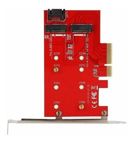 Adaptador Conversor Ssd M.2 Pci-e X4 Ngff Nvme Pc B+m 2 In 1 - EASY HELP NOTE