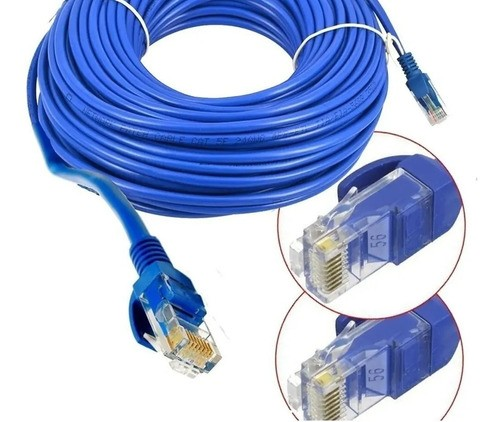 Cabo De Rede Azul 30 Metros Rj45 Crimpado Cat5e Internet Lan - EASY HELP NOTE