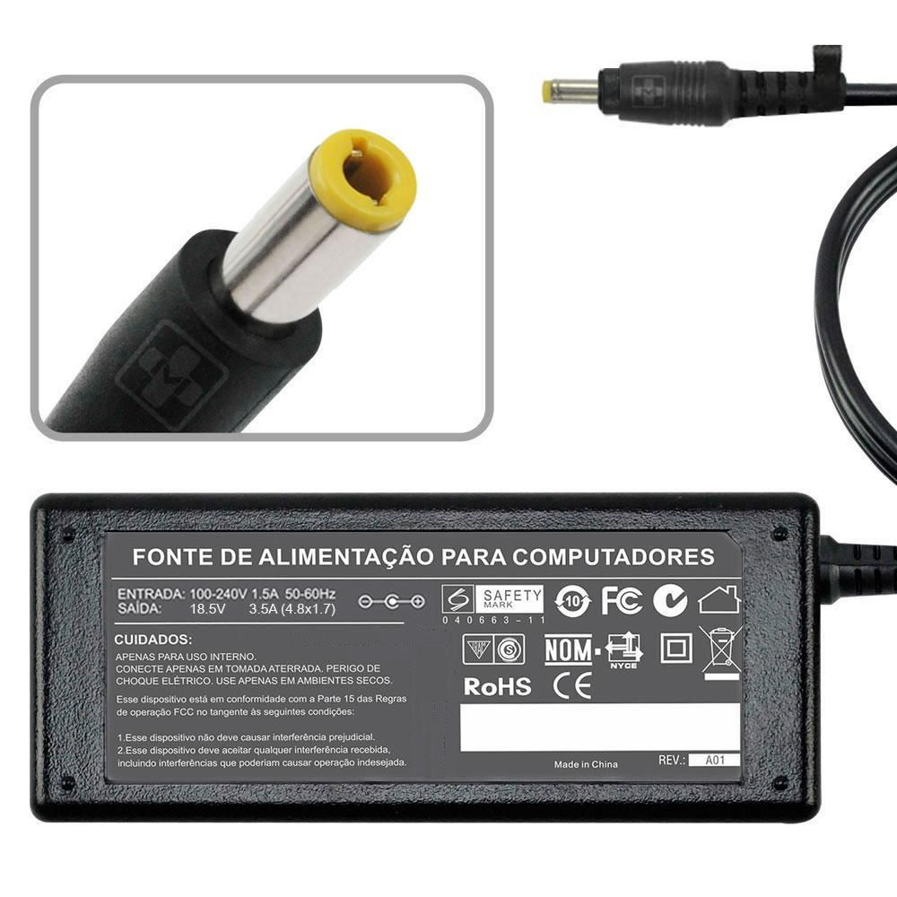 Fonte Carregador Notebook Para Hp 510   18,5v  3.5a 65w mm 712 - EASY HELP NOTE