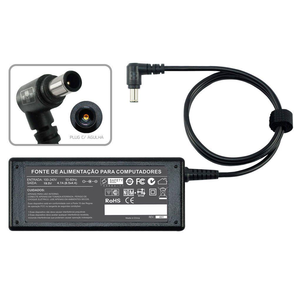 Fonte Carregador Notebook Sony Pcg Vgn 19,5v Vgp-ac19.5v10 493 - EASY HELP NOTE