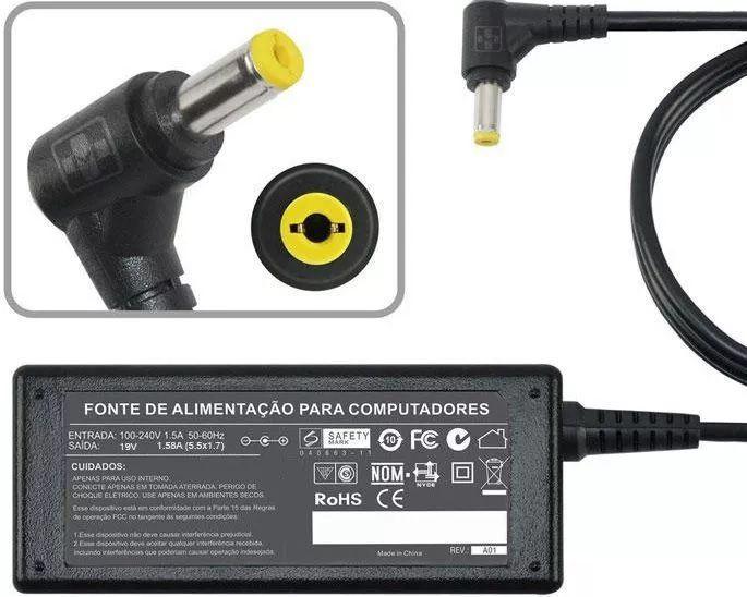 Fonte Carregador P/ Acer Aspire One Aoa110  Séries 19v 1.58a MM 480 - EASY HELP NOTE