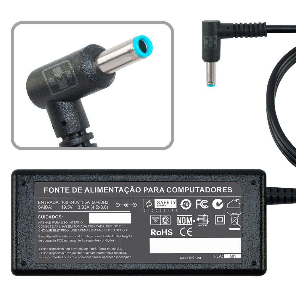 Fonte Carregador P/ Ultrabook Hp Pavilion 14-d027la 19,5v 761 - EASY HELP NOTE