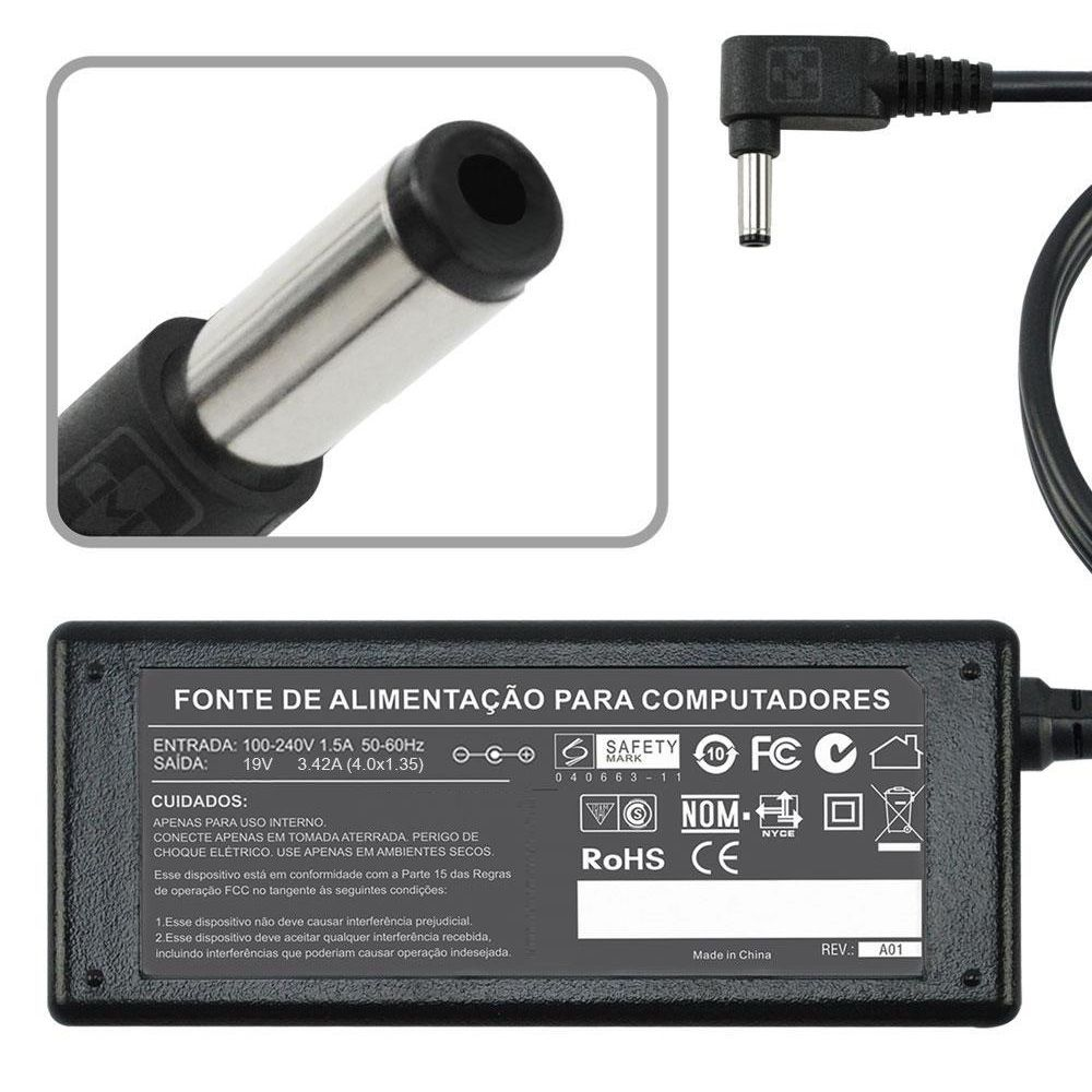 Fonte Carregador Para Asus Zenbook Ux21a 19v 3,42a 1.35m MM 816 - EASY HELP NOTE