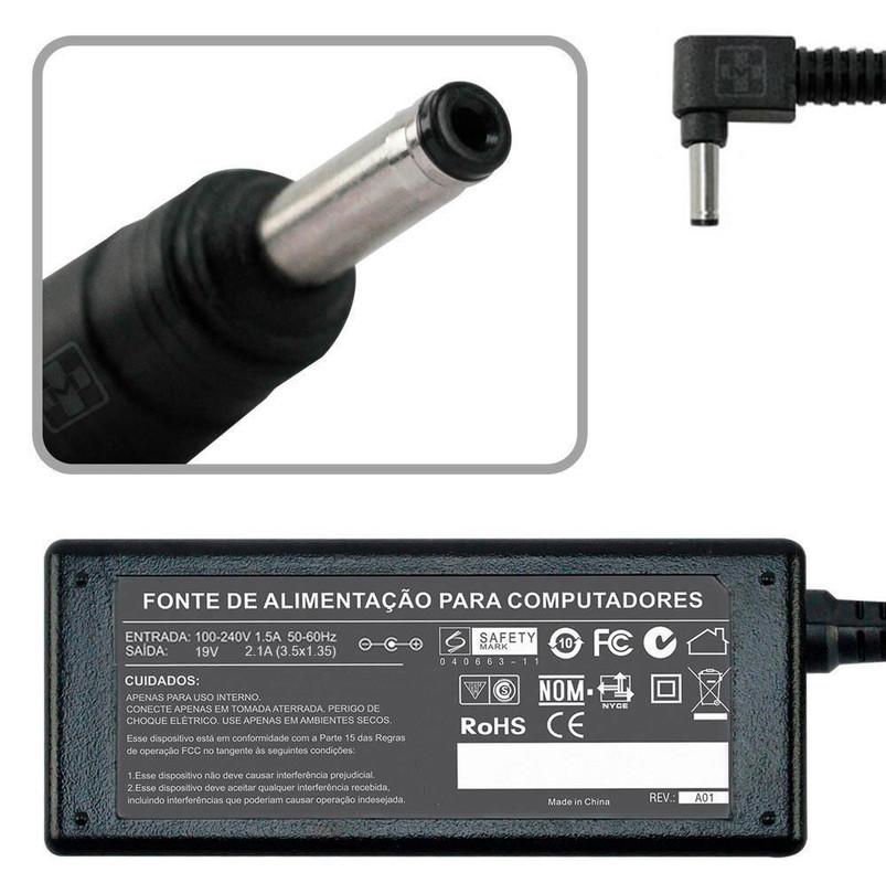 Fonte Carregador Para Asus Zenbook Ux21e-dh52 19v 3.0x1.1mm MM 646 - EASY HELP NOTE