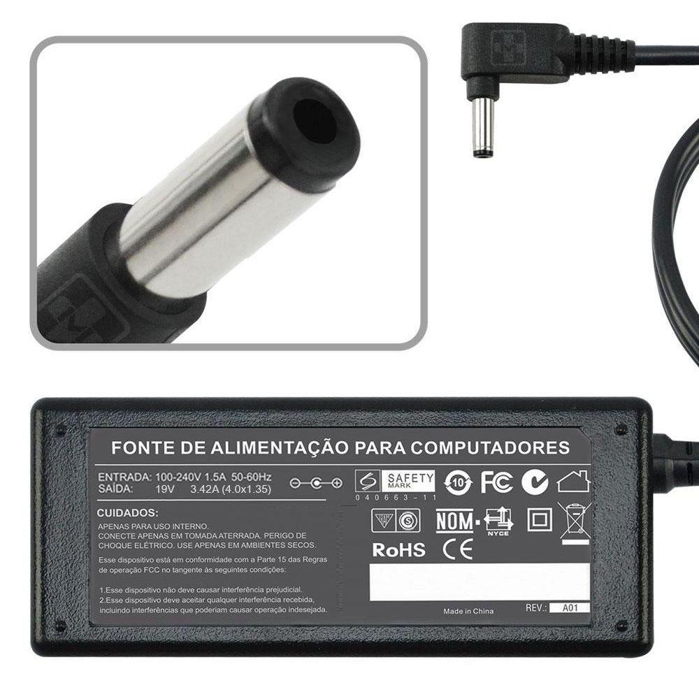 Fonte Carregador Para Asus Zenbook Ux31a 19v 3.42a 1.35m MM 816 - EASY HELP NOTE